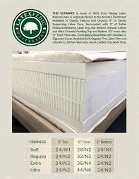 "natural beds organic 11"" THE ULTIMATE LATEX mattress"